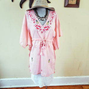 New Letate Pinapple/Roses Coverup Tunic
